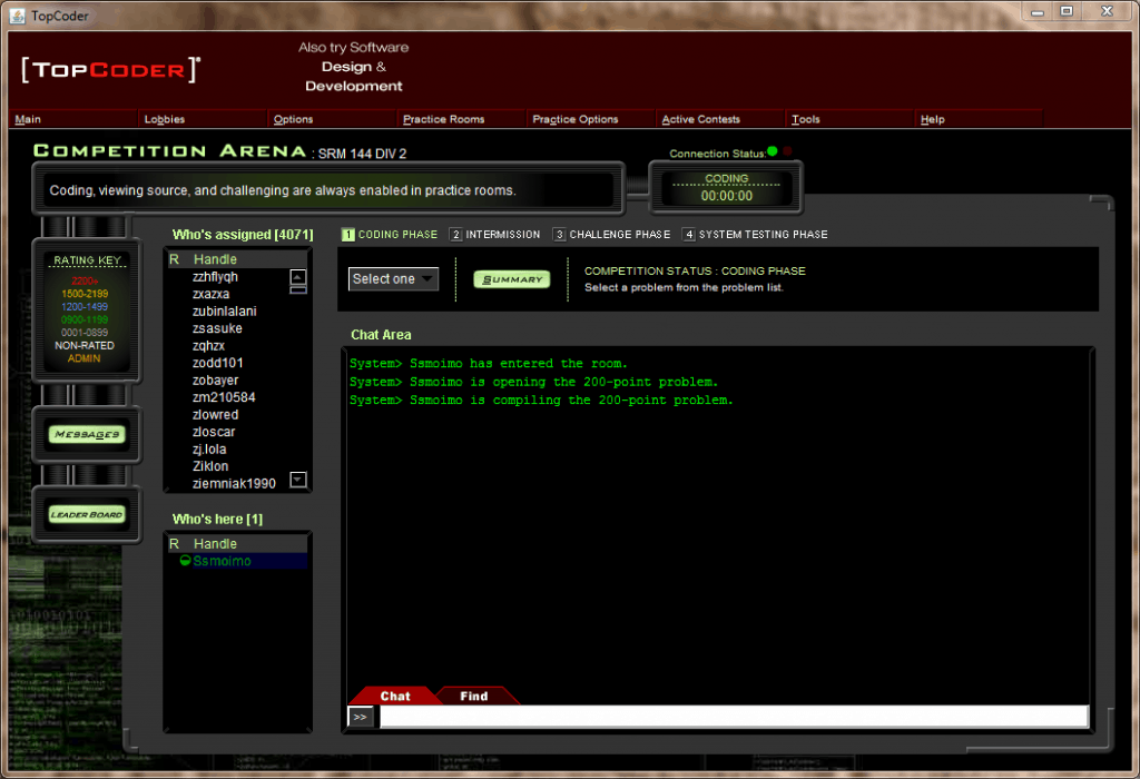 topcoder screenshot