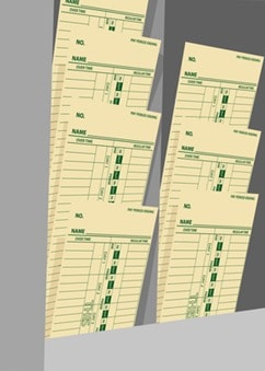 Timecards weekly wages time cards rack