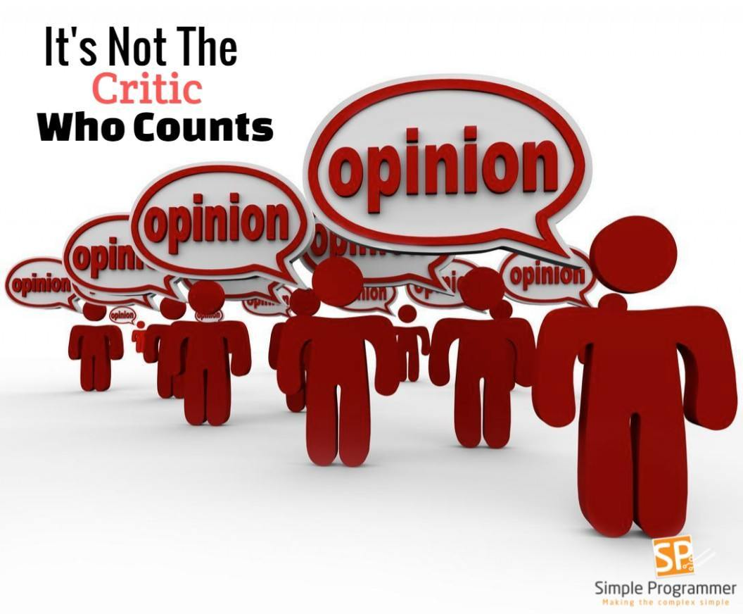 It's not the critic who counts