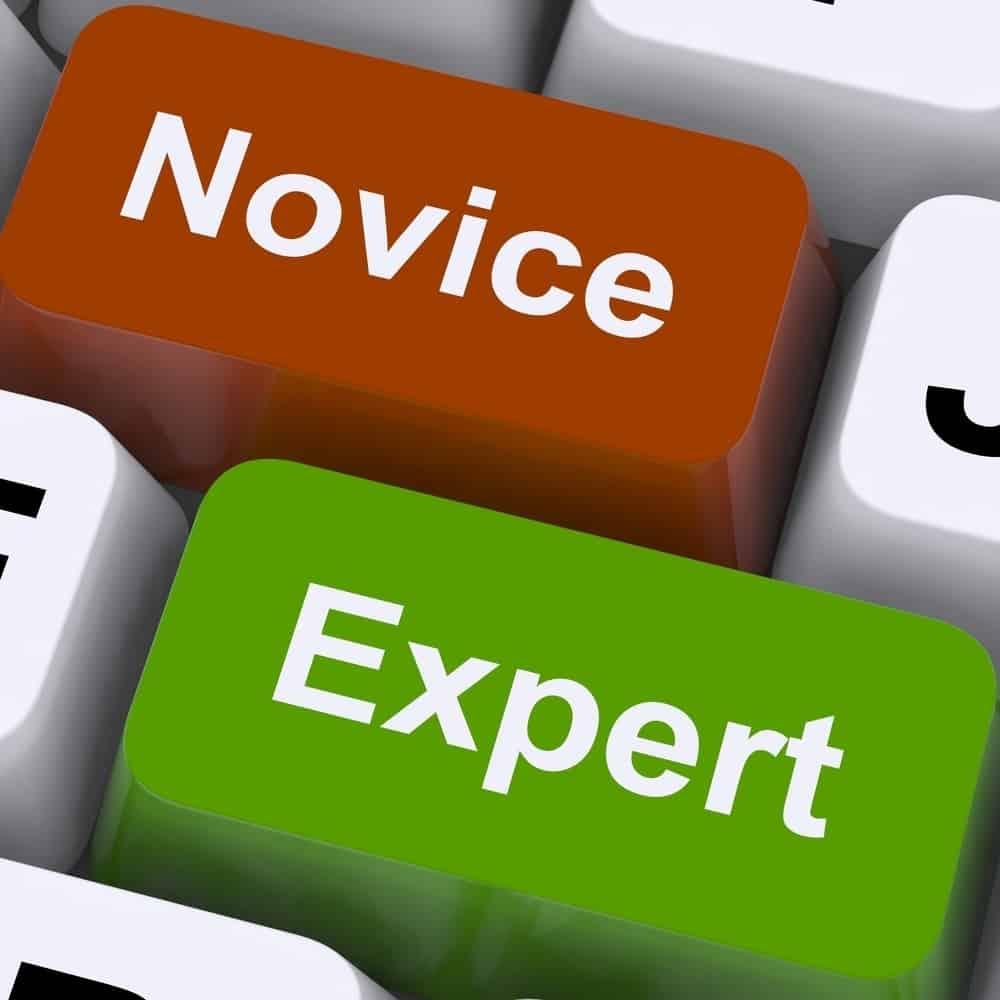Novice Expert Keys Show Amateur Or Professional
